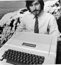 Steve jobs with Apple II